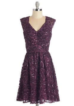 Twinkling at Twilight Dress in Plum