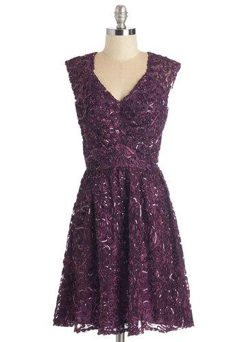 Twinkling at Twilight Dress in Plum