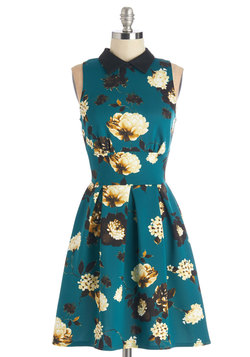 Delightful Day Out Dress in Teal