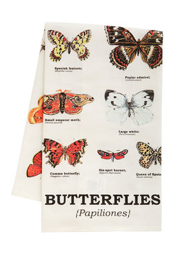 Coffee Wings Tea Towel