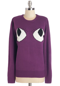 Plum See About Me Sweater