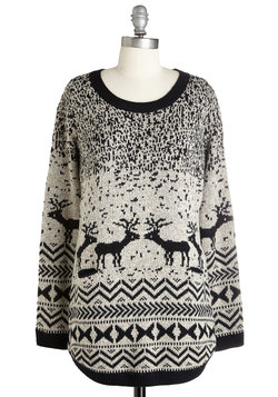 Question and Antler Sweater