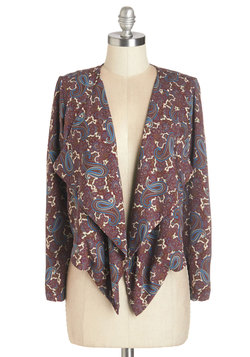 For Chic's Sake Blazer in Burgundy