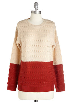 One, Two-Tone, Three! Sweater
