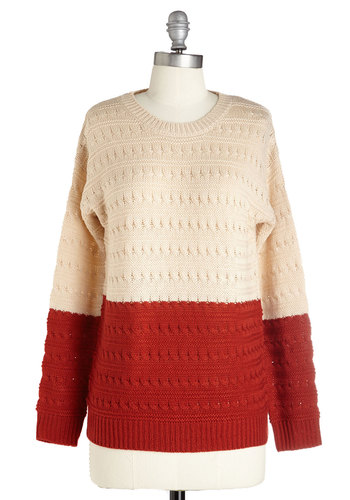 One, Two-Tone, Three! Sweater