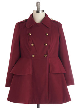 Tiering Up My Heart Coat in Plus Size