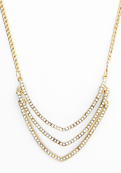 Tiers Shine on their Own Necklace