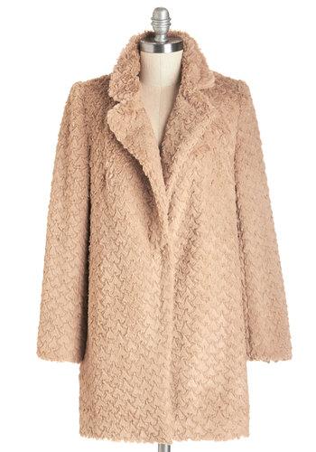 Ladies Fur-st Coat in Camel