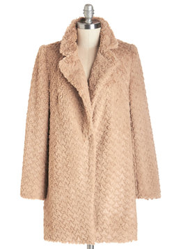 Ladies Fur-st Coat in Camel