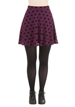 Miss Whiskers Skirt in Plum