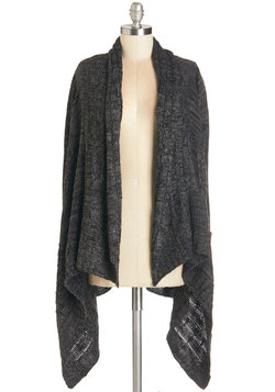 Easy Comfort, Easy Go Cardigan in Charcoal
