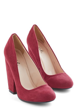 Sweetheart Shop - Fit for a Fashionista Heel in Burgundy