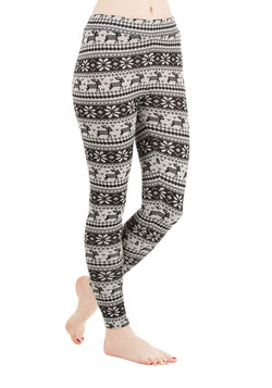Deer Me Out Leggings in Black