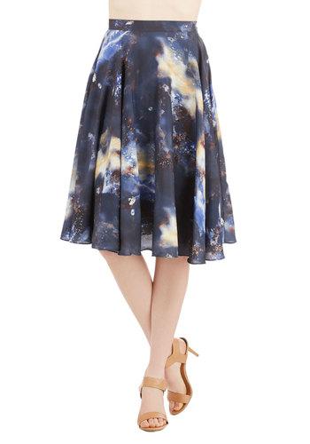 Ikebana for All Skirt in Galaxy
