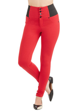 Carefree Crescendo Pants in Crimson