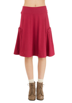 At the Racquet of Dawn Skirt in Berry