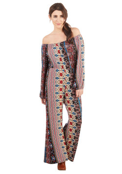 Pattern Up the Beat Jumpsuit