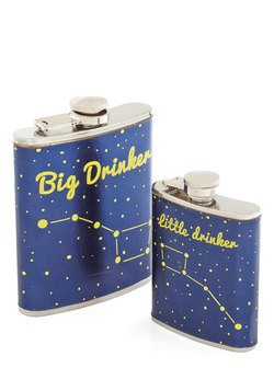 Sippin' in the Stars Flask Set