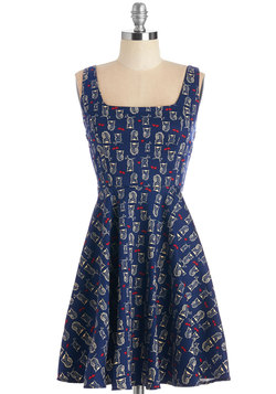 Very Charming Dress in Navy Owls