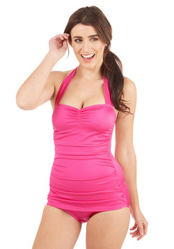 Bathing Beauty One-Piece in Fuchsia