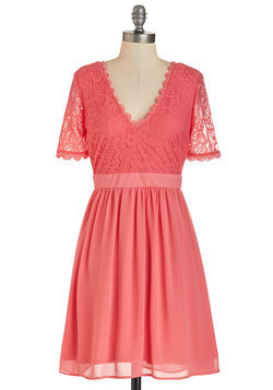 Craft Cocktails Dress in Coral
