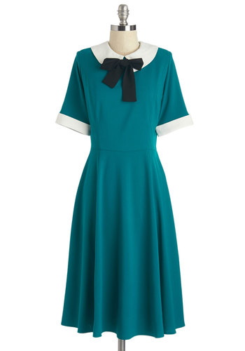 1930s dresses fashion Get Up and Bow Dress