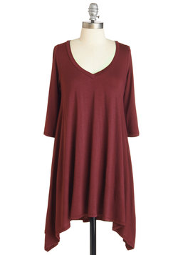 Infinitely Fabulous Tunic in Burgundy