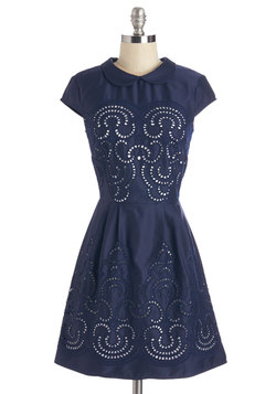 Swirls Unfurl Dress in Navy