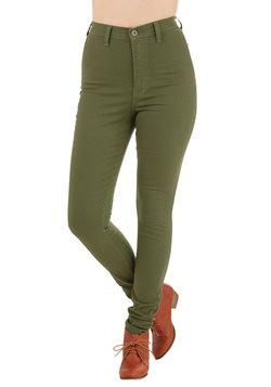 Gotta Jet Set Jeans in Moss