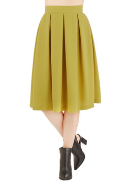 Glow Where You Wanna Glow Skirt in Chartreuse