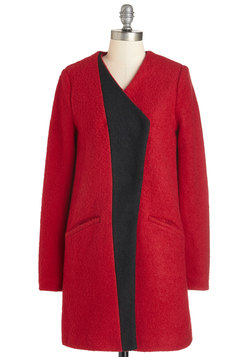 Golly Gee-ometric Coat in Red