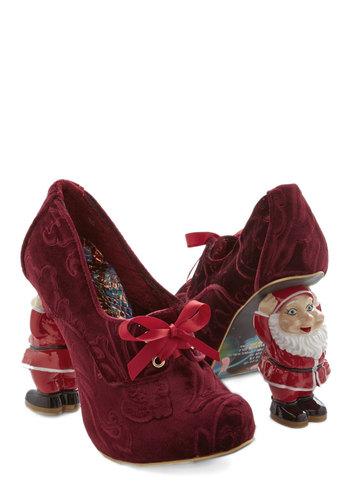 Irregular choice heel comes santa claus mod retro