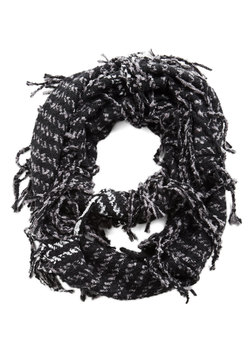 Haute a Moment to Spare Circle Scarf in Black