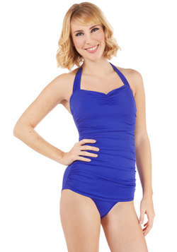 Bathing Beauty One-Piece Swimsuit in Royal