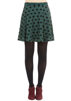 Miss Whiskers Skirt in Forest