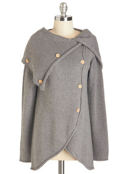 Satisfied Speechwriter Cardigan in Grey