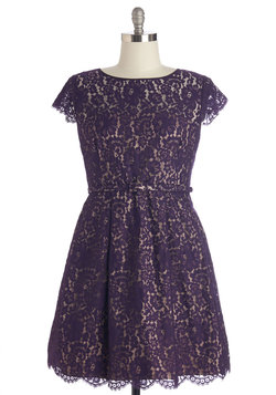 Left in a Spin Dress in Purple - Plus Size