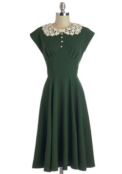 Dancing Date Dress in Fern