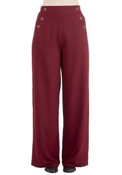 Every Opportunity Pants in Burgundy