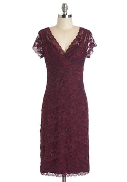 Decadent Dining Dress in Berry