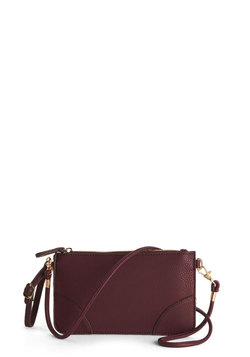 Attention to Retail Clutch in Burgundy