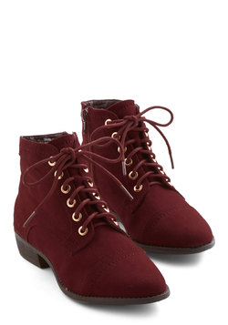 Charm Beyond Compare Bootie in Wine