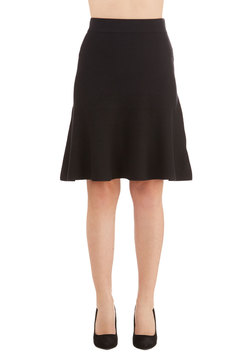 Stop and Stereo Skirt in Black