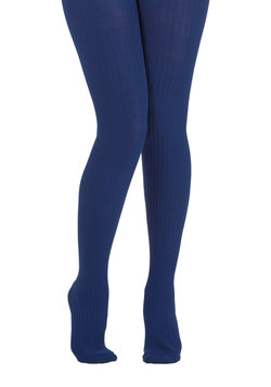 Cover Your Basics Tights in Cobalt