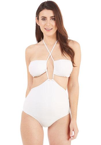 Ooh La La Jolla One-Piece Swimsuit in White