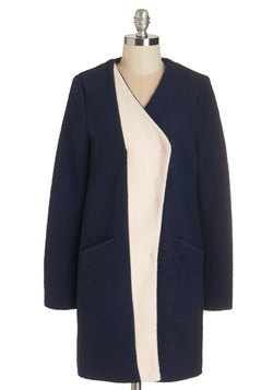 Golly Gee-ometric Coat in Navy