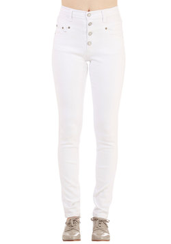Karaoke Songstress Jeans in White