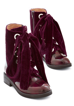 Jeffrey Campbell Velvet Wonder-Bound Boot in Burgundy