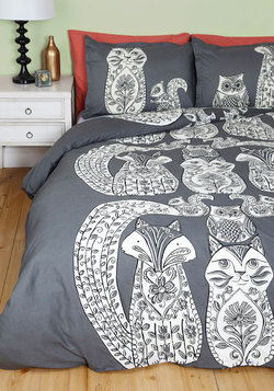 Tails Before Bedtime Duvet Cover in Full/Queen