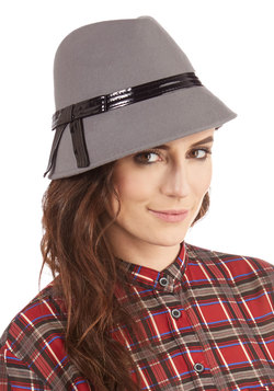 The Cloche Is Ticking Hat in Grey